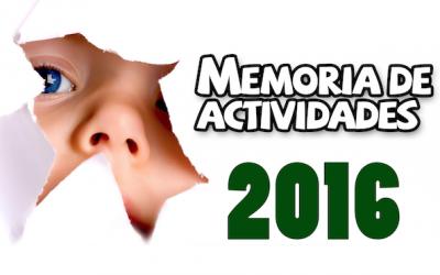 Memoria de Actividades 2016
